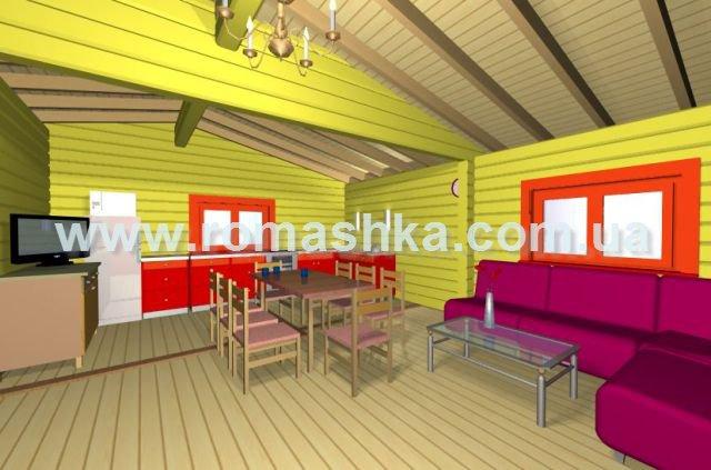 Проект деревяного будинку з брусу leon