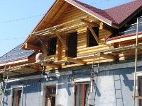 nstallation of floor wooden house construction