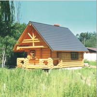 Banya (sauna) - wooden house with a terrace 42 sq.m.