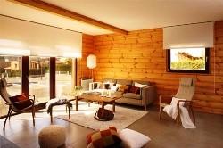 Дизайн деревяного будинку штори